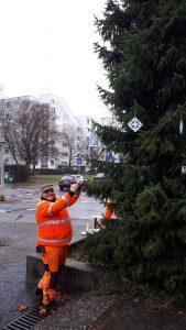 Archiv Quartiersmanagement Hasenleiser,gebastelter Weihnachtsschmuck